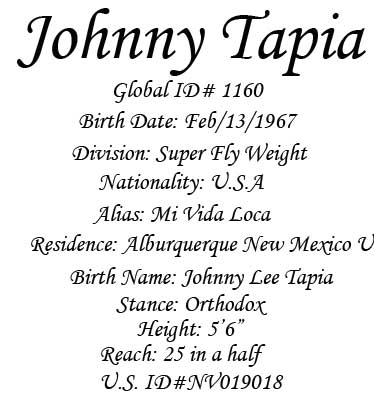 Johnny Tapia Interview